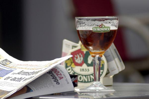 Бельгийское пиво Koninck / Фото из Бельгии