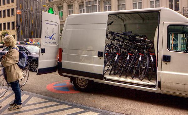 Велосипеды в Брюсселе / Фото из Бельгии