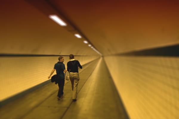 Пешеходный тоннель в Антверпене / Фото из Бельгии