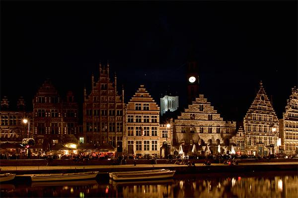 Гент вечером / Фото из Бельгии