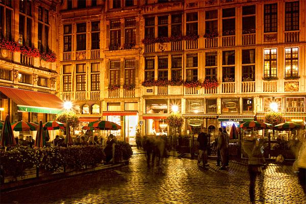 Ночные улицы Брюсселя / Фото из Бельгии