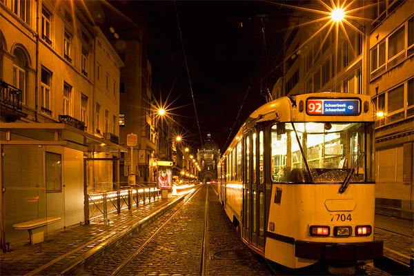 Трамвай в Брюсселе / Фото из Бельгии