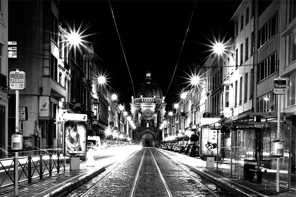 Ночной Брюссель / Фото из Бельгии