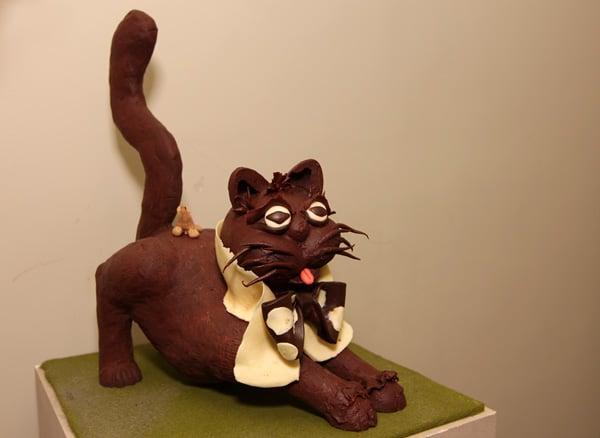 Кот в натуральную величину в Музее шоколада / Фото из Бельгии