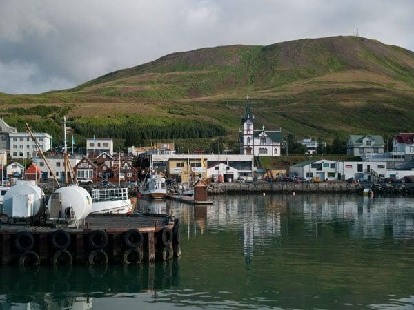 Порт в Хусавике / Фото из Исландии