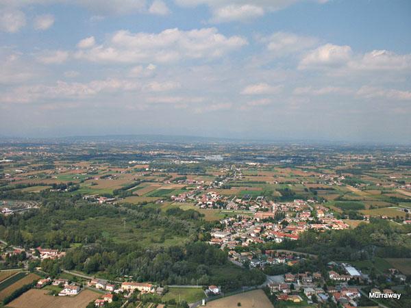 Вид из самолета на провинцию Фриули-Венеция-Джулия, в которой расположен Триест / Фото из Италии