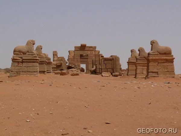 Храм Амона (I в. до н. э. - II в. н. э.), Нага / Фото из Судана