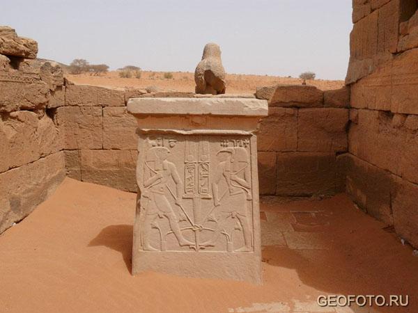 В храме Амона (I в. до н. э. - II в. н. э.), Нага / Фото из Судана