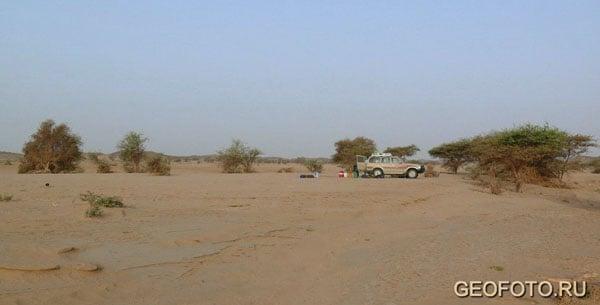 Лагерь на берегу вади Абу-Даун / Фото из Судана