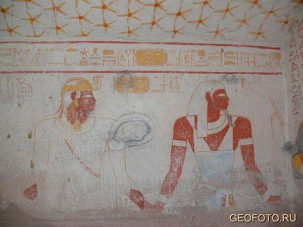 Роспись стен в гробнице Танветамани / Фото из Судана