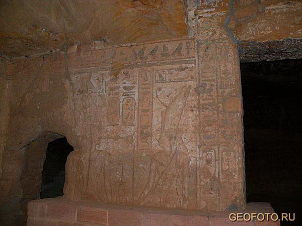 Интерьер храма богини Мут, Джебель-Баркал / Фото из Судана