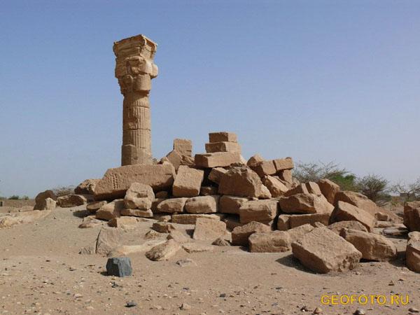 Саадинга – храм и некрополь эпохи Нового царства / Фото из Судана