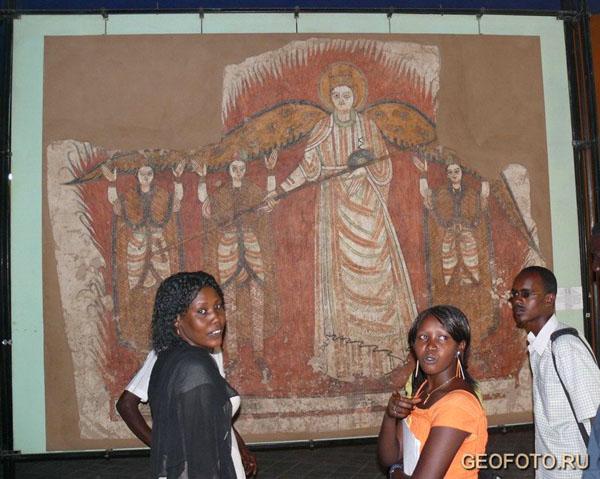 Фрески церкви Святого Петра, Х век, из экспозиции Национального музея в Хартуме / Фото из Судана
