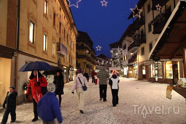 Кортина-д'Ампеццо после заката / Фото из Италии