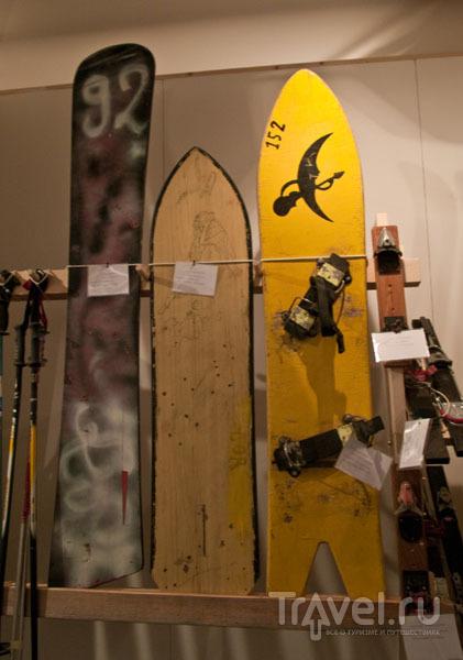 Первые сноуборды в музее Regole d'Ampezzo / Фото из Италии