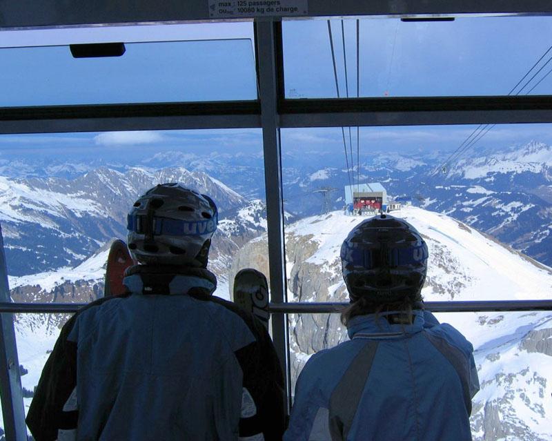 Вид с подъемника на Пьер-Пуант / Фото из Швейцарии