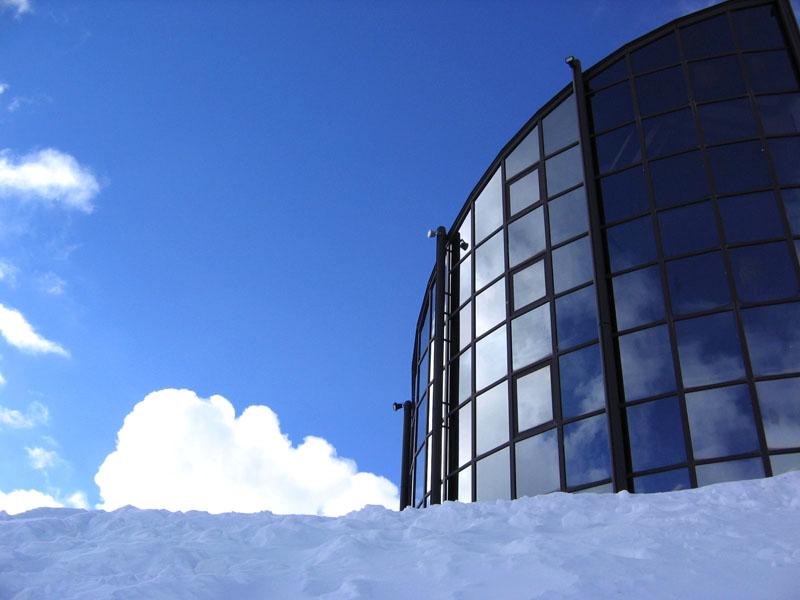 """Ресторан """"Куклос"""" с верхней станции подъемника / Фото из Швейцарии"""