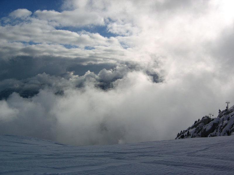 Начало склона в Лезен / Фото из Швейцарии