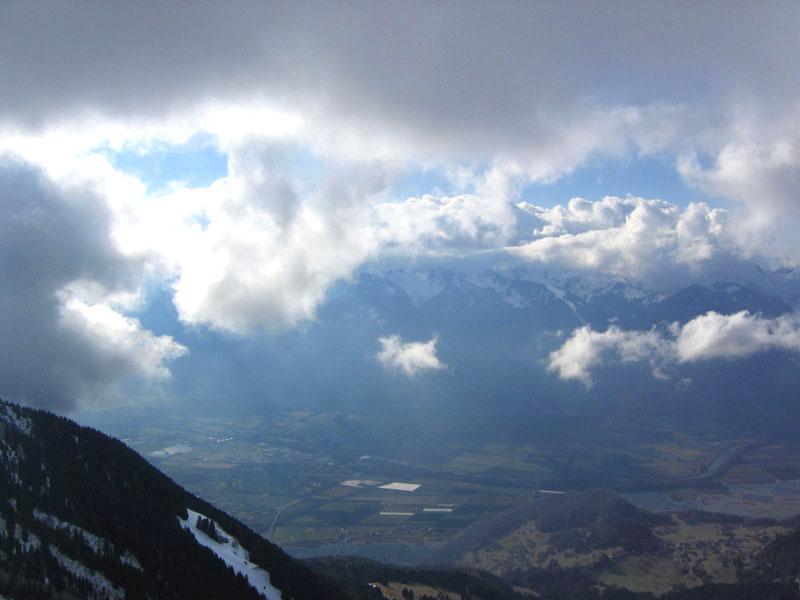 """Вид на долину Роны из ресторана """"Куклос"""" / Фото из Швейцарии"""