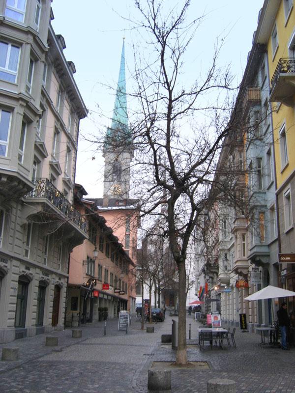 Цюрих зимой / Фото из Швейцарии