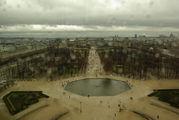 Вид на парк Тюильри / Франция