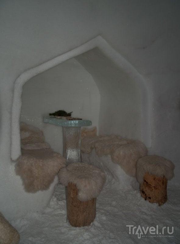 В ледяном баре White Lounge / Фото из Австрии