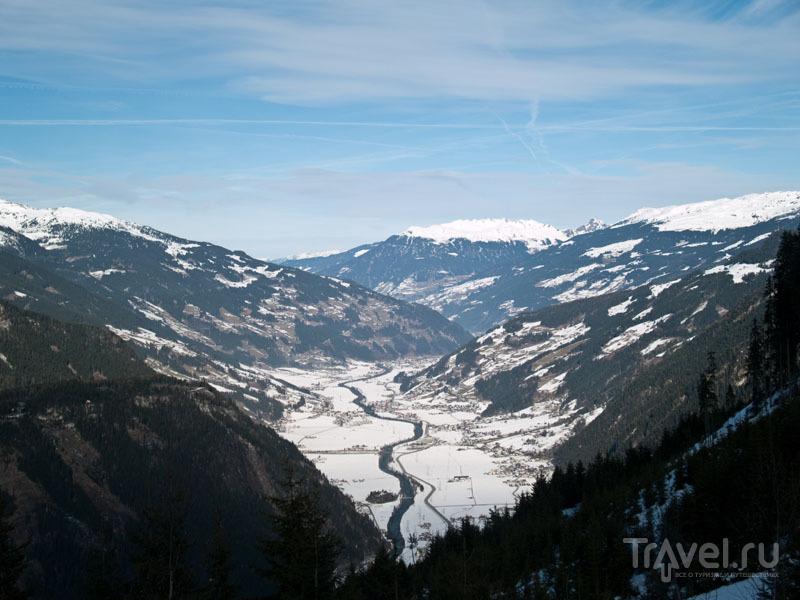 Вид на долину Циллерталь / Фото из Австрии
