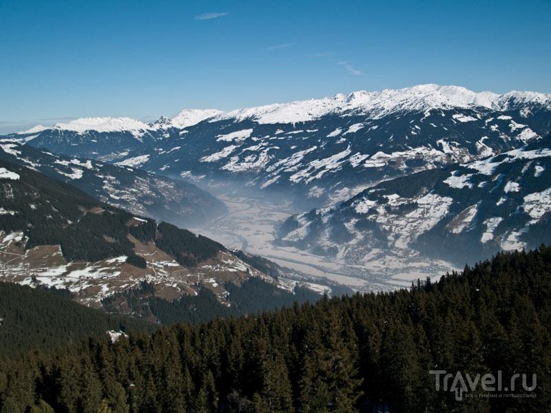 Вид на Майрхофен с горы Penken / Фото из Австрии