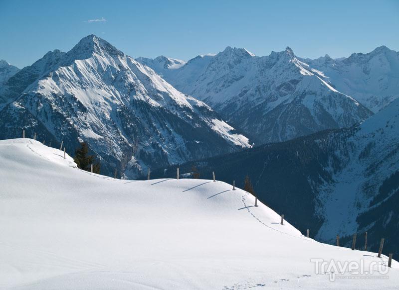 Панорама в горах Майрхофена / Фото из Австрии