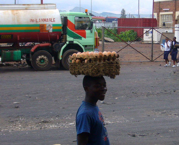 В городе Гома, Конго / Фото из Конго (бывш. Заир)