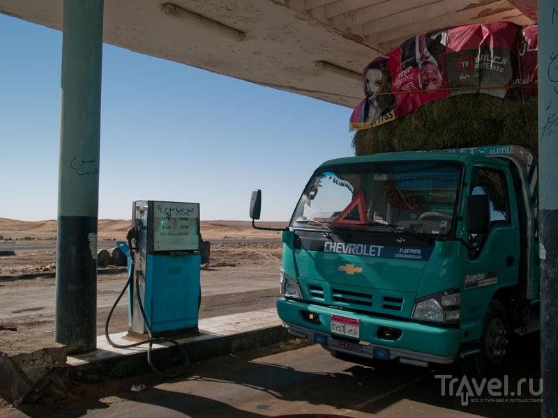 Заправка в пустыне по дороге из Каира в Бахарию / Фото из Египта