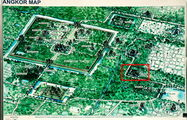 На плане комплекса Ангкор / Камбоджа