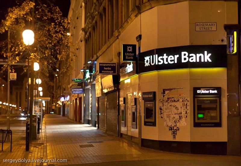 Банкоматы в Белфасте / Фото из Ирландии