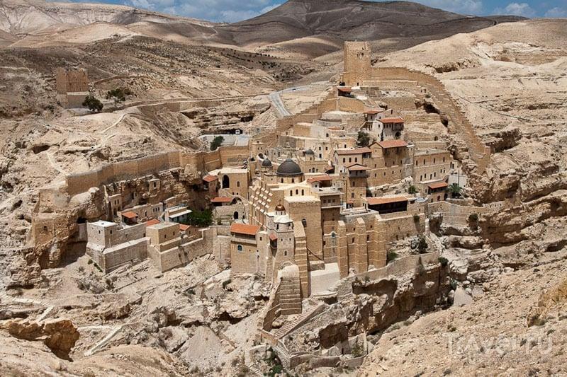 Лавра преподобного Саввы Освященного (Mar Saba) в Иудейской пустыне / Фото из Палестины