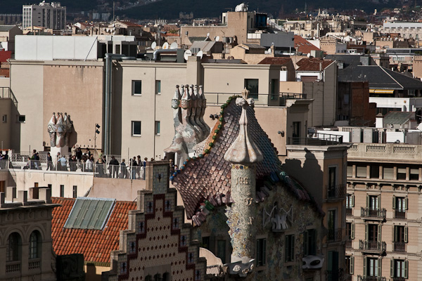 дом Гауди сверху / Испания