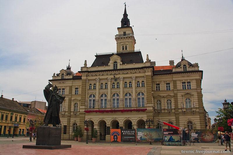 Главная площадь в Нови-Саде, Сербия / Фото из Сербии