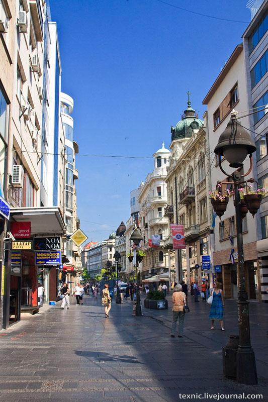 Белградская улица, похожая на Арбат / Фото из Сербии