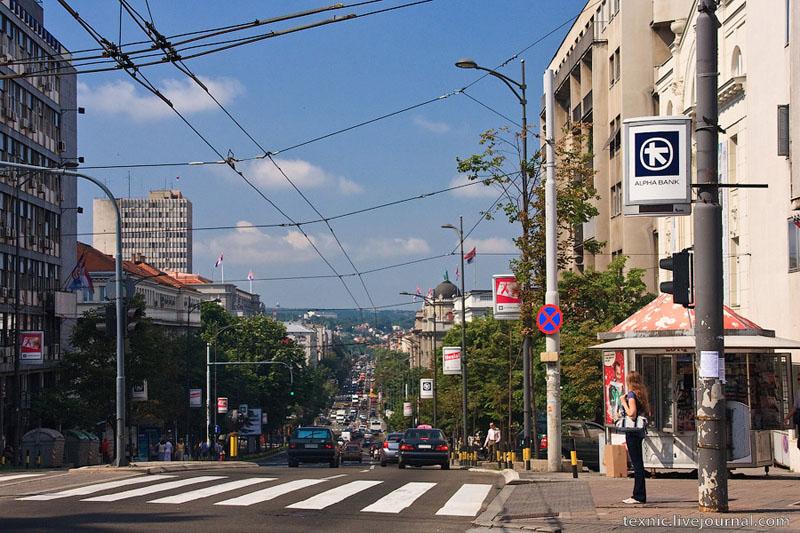 Оживленная улица в Белграде / Фото из Сербии