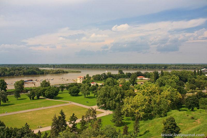 Вид из крепости в Белграде / Фото из Сербии