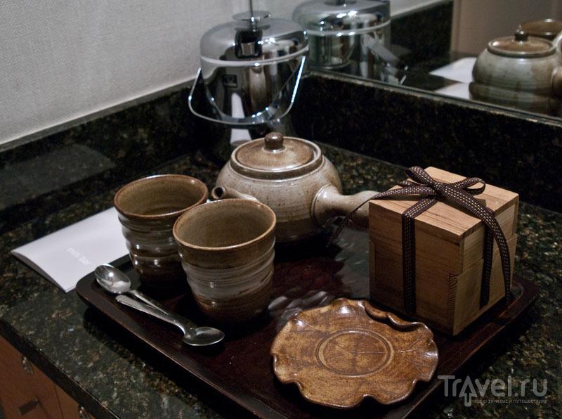 Чайный набор в номере Hayatt Regency Incheon / Фото из Южной Кореи