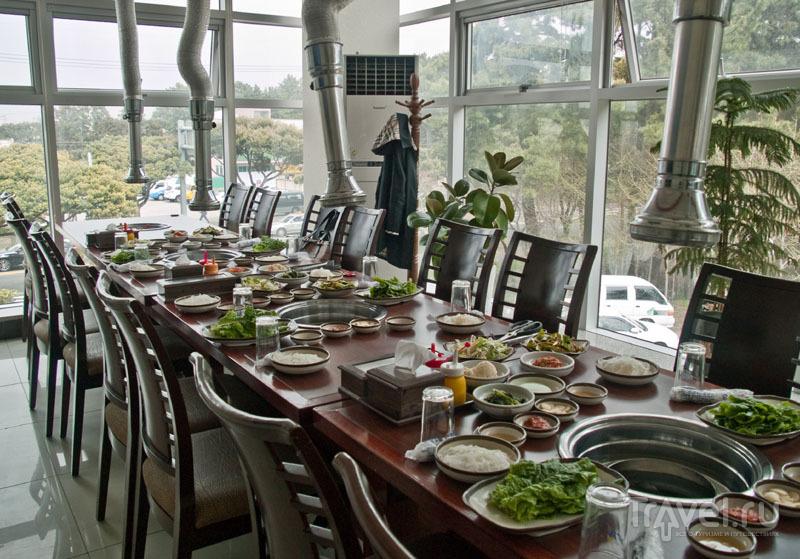 Традиционный корейский ресторан на Чеджудо / Фото из Южной Кореи