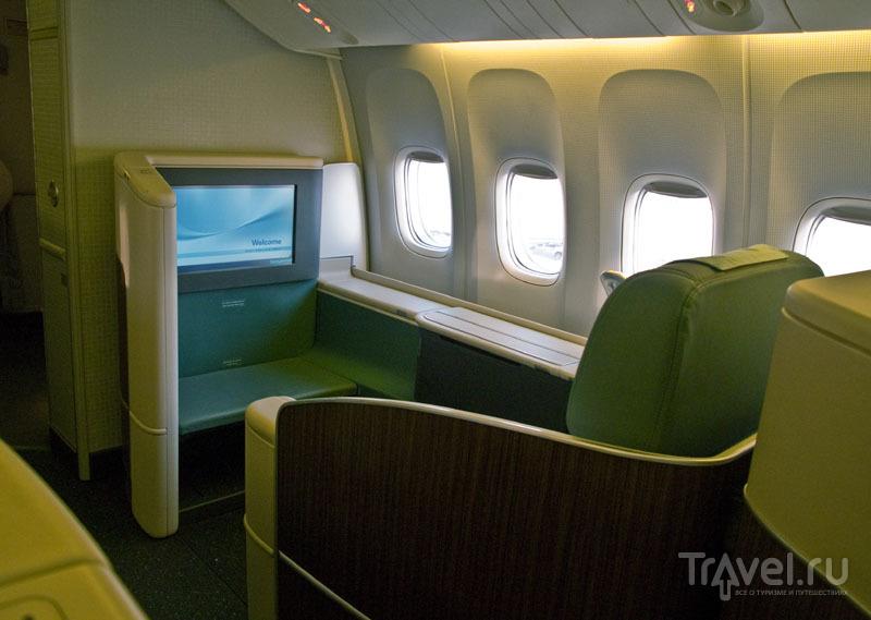 Кресло первого класса в самолете Korean Air / Фото из Южной Кореи