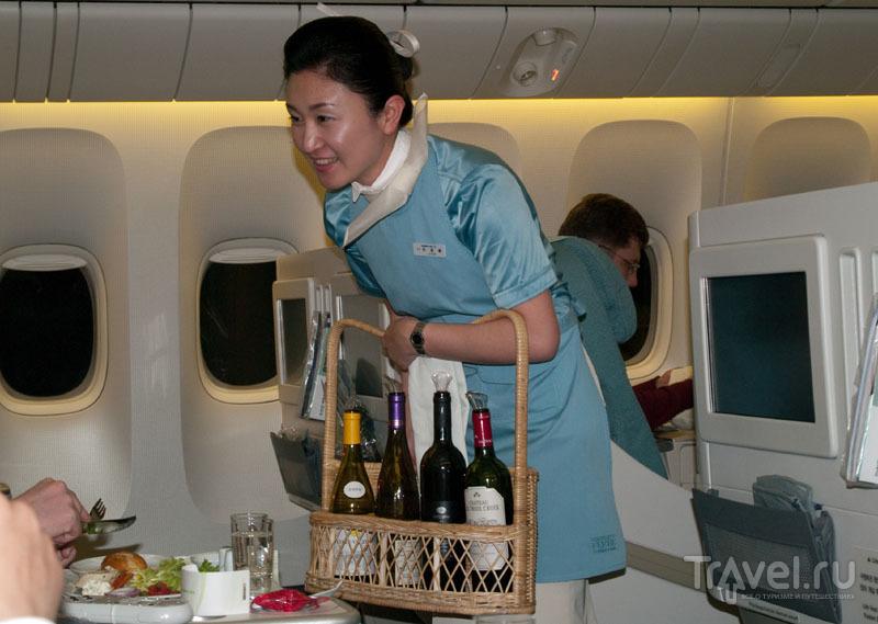 Обслуживание в бизнес-классе на рейсе Korean Air / Фото из Южной Кореи