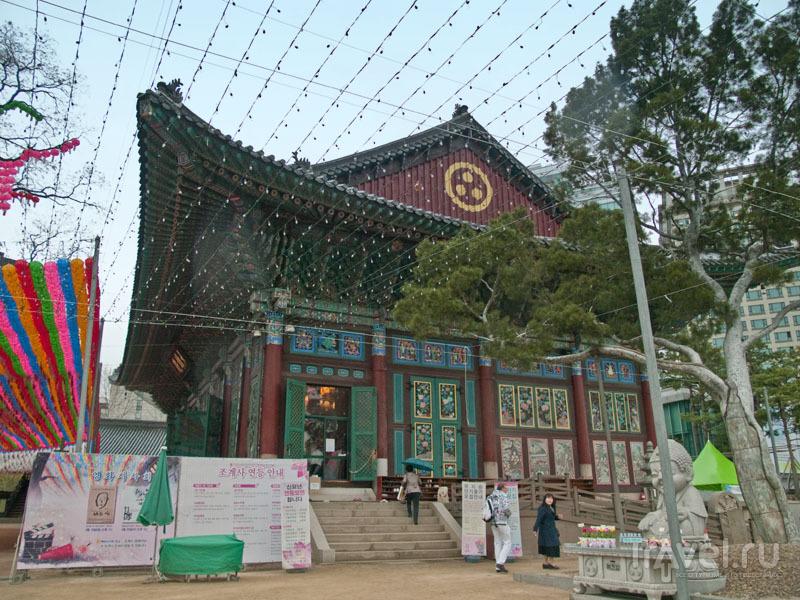Дзен-буддийский храм Чогеса в Сеуле / Фото из Южной Кореи