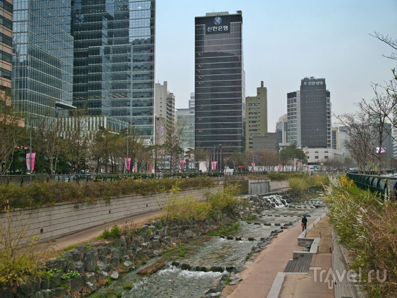 Ручей Cheonggyecheon в центре Сеула / Фото из Южной Кореи