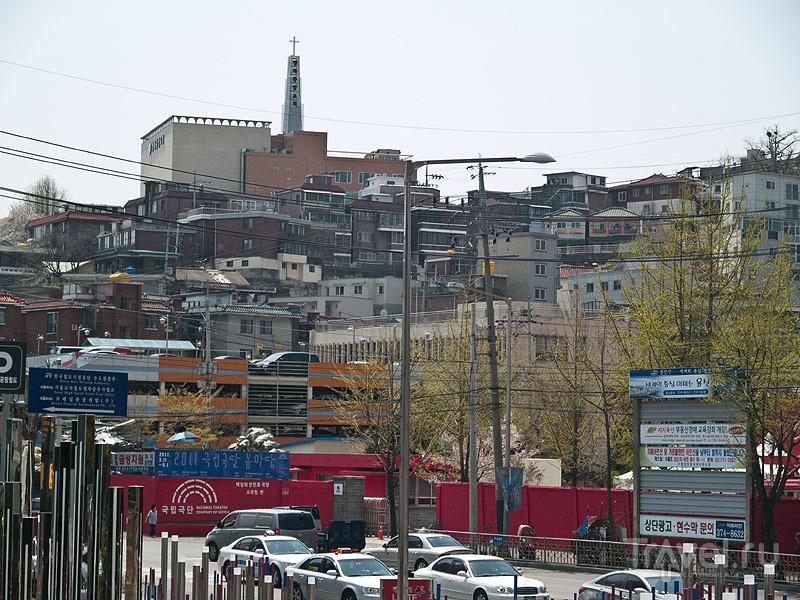 Жилой район в Сеуле / Фото из Южной Кореи