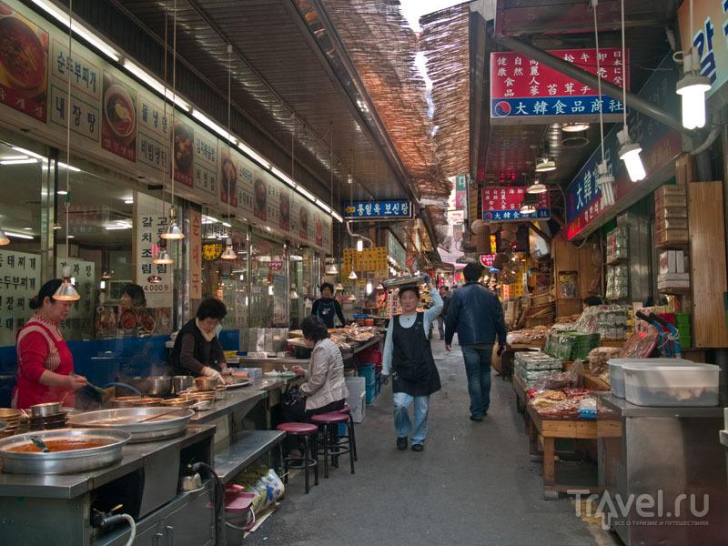 Ресторан и магазины в районе Namdaemun-ro / Фото из Южной Кореи
