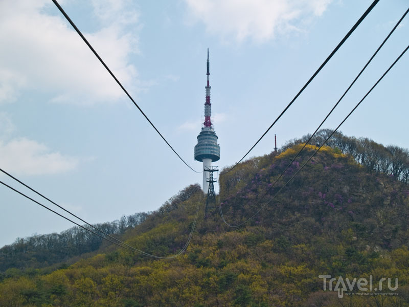 Seoul Tower на вершине Намсан / Фото из Южной Кореи