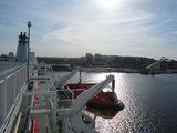 Вид с парома на порт Стокгольма / Эстония