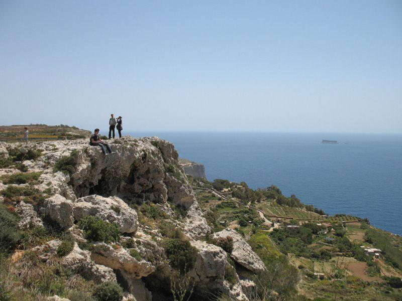 Скалы Дингли, самая высокая точка Мальты / Фото с Мальты